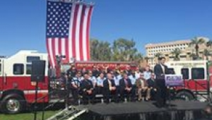 Governor Doug Ducey speaking about Protecting Our Community